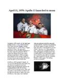 Info Reading Text - Apollo 13 Launched (no prep/sub plans)