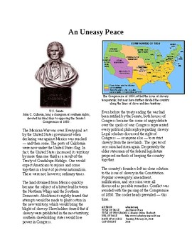 Info Reading Text - Before the Civil War: An Uneasy Peace (no prep/sub plans)