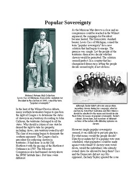 Info Reading Text - Before the Civil War: Western Popular Sovereignty (no prep)