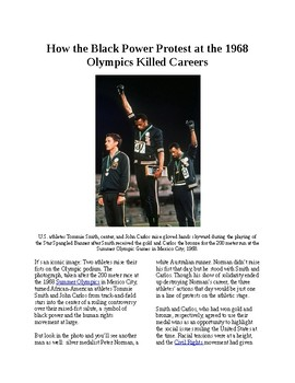 Info Reading Text - Black History Month: 1968 Olympic Black Power Protest
