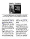 Info Reading Text - Black History Month: Booker T. Washington (no prep/sub plan)