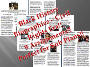 Info Reading Text-Black History Month: Civil Rights Era Leaders Bundle (no prep)