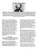 Info Reading Text - Black History Month: Frederick Douglass (no prep/sub plans)