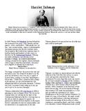 Info Read Text - Black/Women's History Month: Harriet Tubman (no prep/sub plan)