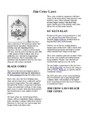 Info Reading Text - Black History Month: History of Jim Crow Laws (no prep/sub)