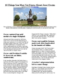 Info Reading Text - Black History Month: Jesse Owens (no prep/sub plans)