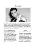 Info Reading Text - Black History Month: Joe Louis (no prep/sub plans)