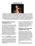Info Reading Text - Black History Month: Muhammad Ali (no prep/sub plans)