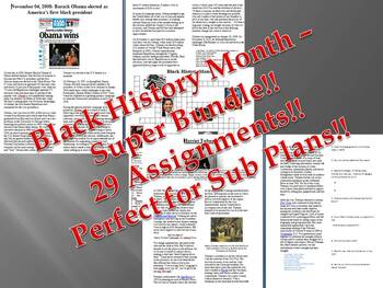 Info Reading Text - Black History Month Super Bundle - SAVE OVER $20!!