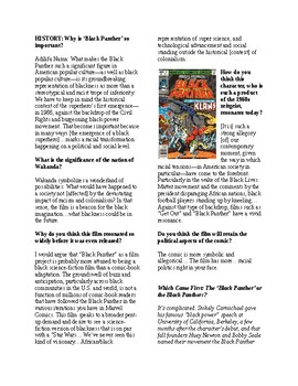 Info Reading Text - Black History Month: The Real History behind Black Panther