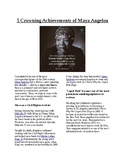 Info Reading Text - Black/Women's History Month: Maya Angelou (no prep/sub plan)