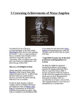 Info Reading Text - Black/Women's History Month: Maya Ange