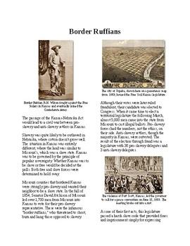 Info Reading Text - Bloody Kansas: Border Ruffians (no prep/sub plans)