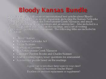 Info Reading Text - Bloody Kansas Bundle (no prep/sub plans)