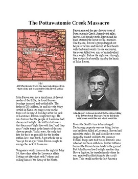 Info Reading Text - Bloody Kansas: Pottawatomie Creek Massacre (no prep)