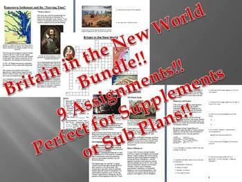Info Reading Text - British Colonies in the New World Bundle (no prep/sub plans)