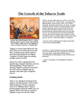 Info Reading Text - British Colonies in the New World: The Tobacco Trade