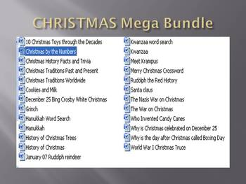 Info Reading Text - CHRISTMAS MEGA BUNDLE!!! SAVE OVER $16!!!
