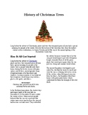 Info Reading Text - Christmas: History of Christmas Trees (no prep/sub plans)