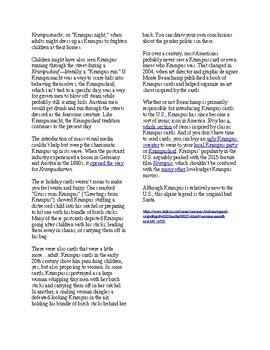 Info Reading Text - Christmas: Meet Krampus, the Christmas Devil (no prep/sub)