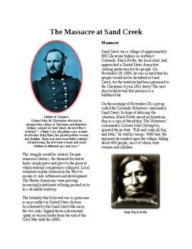 Info Reading Text - Closing the Frontier: Sand Creek Massacre (no prep/sub plan