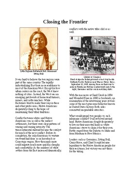 Info Reading Text - Closing the Frontier and Native Resistance (no prep/sub plan