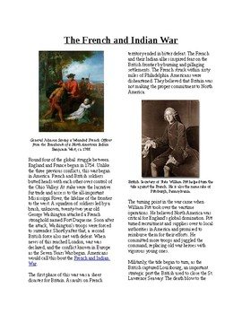 Info Reading Text-Colonial America in the Global Struggle: French and Indian War