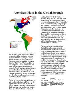 Info Reading Text - Colonial America's Place in the Global Struggle (no prep)