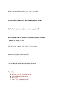 Info Reading Text - Crime and Psychology: Jeffrey Dahmer captured (no prep/sub)