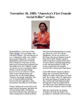 Info Reading Text - Crime and Psychology: Female Serial Killer - Aileen Wuornos