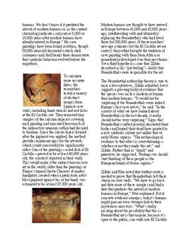 Info Reading Text - Did Neanderthals Create Cave Art? (no prep/sub plans)