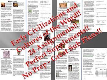 Info Reading Text - Ancient Civilizations: Cultures Bundle (no prep/sub plan)