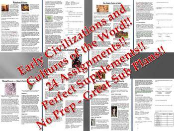 Info Reading Text - Early Civilizations and Cultures Bundl