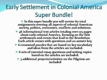 Info Reading Text - Early Colonial America Super Bundle: Save $40!! (no prep/sub