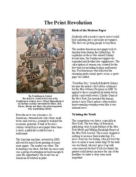 Info Reading Text - Everyday Life in the Gilded Age: Newspapers and Print