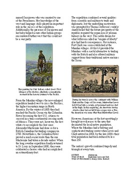 Info Reading Text - Expansion and War 1812: Lewis and Clark (no prep/sub plan)
