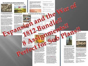 Info Reading Text - Expansion and War of 1812 Bundle (no p