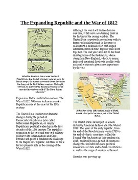 Info Reading Text - Expansion and the War of 1812 (no prep/sub plans)