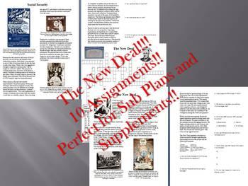 Info Reading Text - FDR's New Deal Bundle (no prep/sub plans)