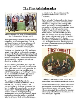 Info Reading Text - George Washington: The First Administration (no prep/sub)