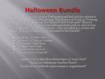Info Reading Text - Halloween Bundle (no prep/sub plans)