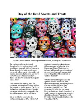 Info Reading Text - Halloween: Day of the Dead celebrations (no prep/sub plans)