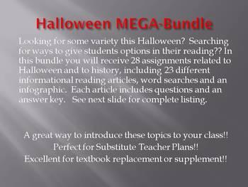 Info Reading Text - Halloween MEGA Bundle - SAVE over $25!!! (no prep/sub plans)