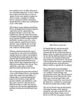 Info Reading Text - Halloween: The Last American Vampire (no prep/sub plans)
