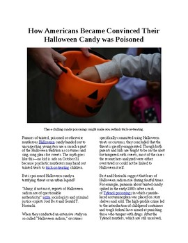 Info Reading Text - Halloween: When Americans were convinced candy was poisoned