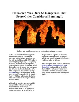 Info Reading Text - Halloween was once so dangerous cities considered banning it