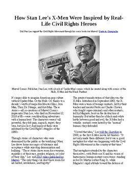 Info Reading Text - How Stan Lee's Superheroes and the Civil Rights Movement