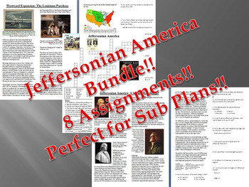 Info Reading Text - Jeffersonian America Bundle (no prep/sub plans)
