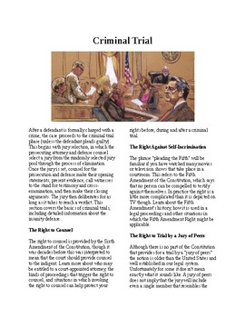 Info Reading Text - Jury Duty: Criminal Trials (no prep/sub plans)
