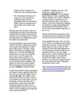 Info Reading Text - Jury Duty: Juries (no prep/sub plans)
